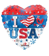 "18"" I Love America Foil Balloon"