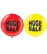 "36"" Tuf Tex Latex Balloon 2 Count Huge Sale (Red, Yellow)"