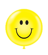 "36"" Tuf Tex Latex Balloon 2 Count Smiley Face (Yellow)"