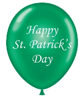 "11"" St Patricks's Day Printed Latex Balloons 100 Per Bag"