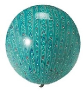 "18"" Peacock Balloon Latex Balloon Green (5 Count)"