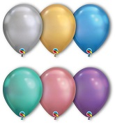 "11"" Chrome Assorted 100 Count Qualatex Latex Balloons"