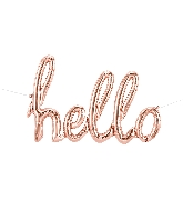 "47"" Airfill Only Hello Script - Rose Gold Script Word"