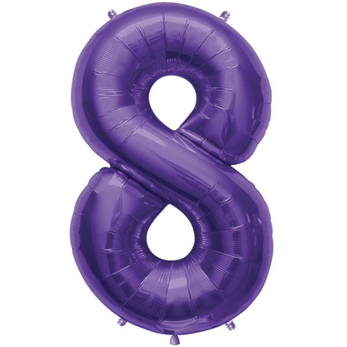 "34"" Northstar Brand Packaged Number 8 - Purple"