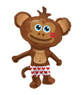 "14"" Hunky Monkey Airfill Balloon Includes Cup and Stick."