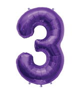 "34"" Northstar Brand Packaged Number 3 - Purple"