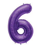 "34"" Northstar Brand Packaged Number 6 - Purple"