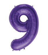 "34"" Northstar Brand Packaged Number 9 - Purple"