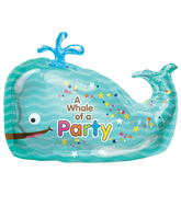 "36"" Foil Balloon Whale of a Party"