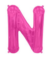 "34"" Northstar Brand Packaged Letter N - Magenta"