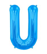 "34"" Northstar Brand Packaged Letter U - Blue"