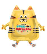 "30"" Foil Balloon Packaged PurrFect Birthday Cat"