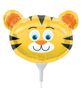 "14"" Tiger Head Airfill Balloon Includes Cup and Stick."