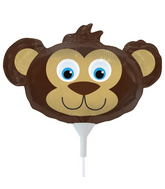 "14"" Bear Head Airfill Balloon Includes Cup and Stick."