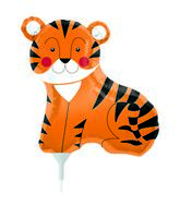 "14"" Teeny Tiger Airfill Balloon Includes Cup and Stick."