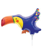 "14"" Tiny Toucan Airfill Balloon Includes Cup and Stick."