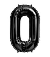 "34"" Foil Balloon Number 0 - Black"
