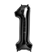 "34"" Foil Balloon Number 1 - Black"