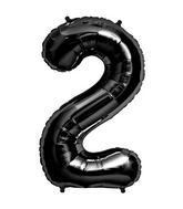 "34"" Foil Balloon Number 2 - Black"