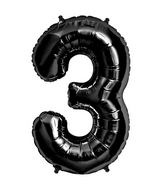"34"" Foil Balloon Number 3 - Black"