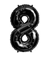 "34"" Foil Balloon Number 8 - Black"