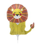 "14"" Little Lion Airfill Balloon Includes Cup and Stick."