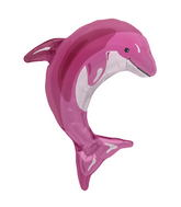 "31"" Foil Balloon Pink Dolphin"