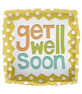 "18"" Foil Balloon Get Well Soon"