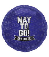 "18"" Foil Balloon Way To Go Purple-Round"
