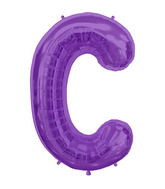 "34"" Northstar Brand Packaged Letter C - Purple"