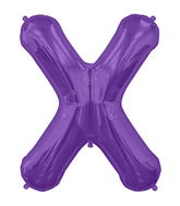 "34"" Northstar Brand Packaged Letter X - Purple"