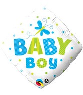 "18"" Baby Boy Dragonfly Mylar Balloon"
