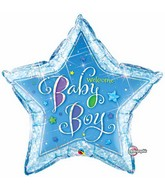 "36"" Welcome Baby Boy Stars Jumbo Balloon"
