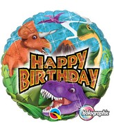 "18"" Birthday Dinosaurs Holographic Balloon"