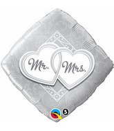 "18"" Mr. & Mrs. Entwined Hearts Balloon"