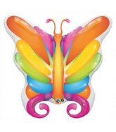 "14"" Airfill Brilliant Butterfly Shape Balloon"