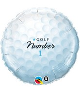 "18"" Golfball Number 1 Balloon Packaged"