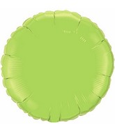 "4"" Airfill Only Lime Green Plain Foil Round"