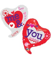 "42"" You and Me Two Hearts Balloon"