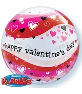 "22"" Valentine&#39s Day Heart Wave Bubble Balloon"