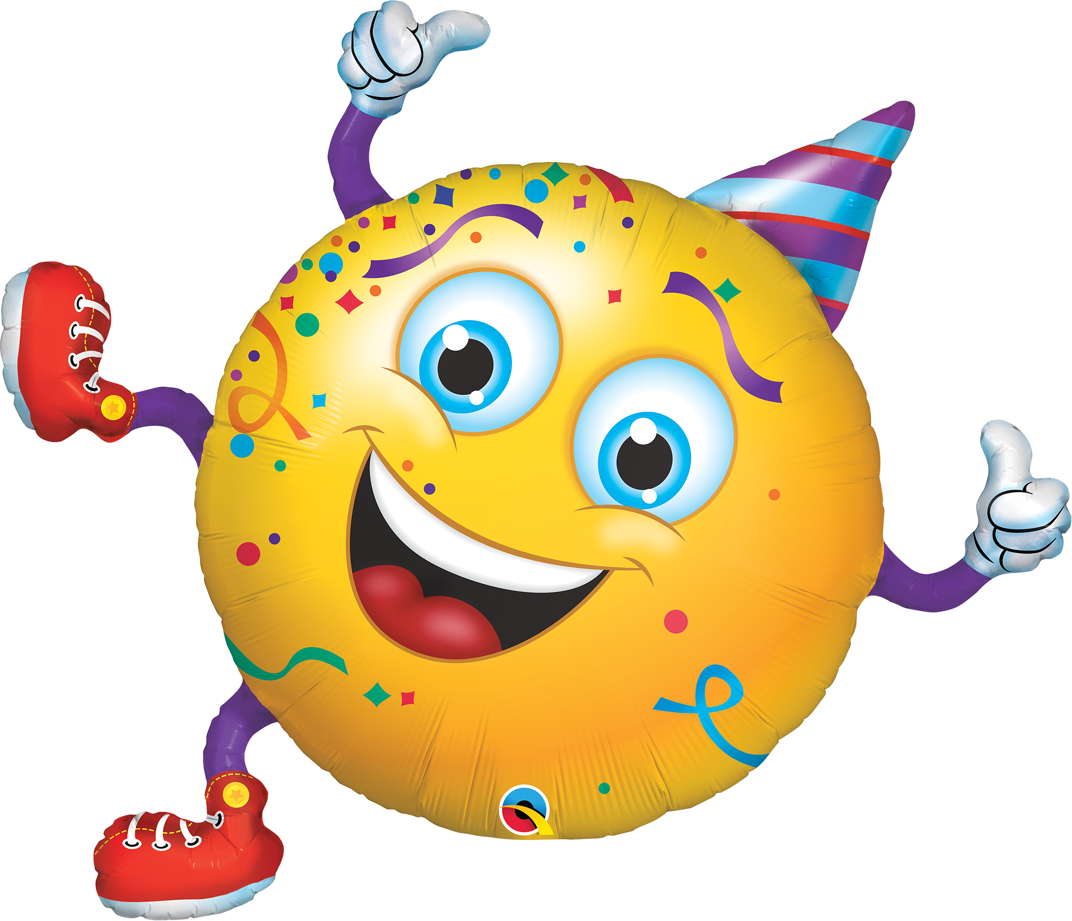 "38"" Shape Smiley Party Guy Foil Balloon"