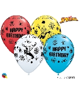 "11"" Assorted Spiderman Birthday 25 Count"