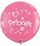 "36"" Rose 2 Count Princess Wrap Latex Balloons"