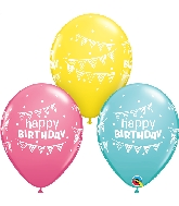 "11"" Special Assorted 50 Count Birthday Latex Balloons"
