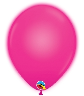 "11"" Q-Lite Magenta 5 Count Qualatex Light Up Latex Balloons"