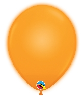 "11"" Q-Lite Orange 5 Count Qualatex Light Up Latex Balloons"