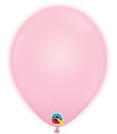 "11"" Q-Lite Pink 5 Count Qualatex Light Up Latex Balloons"