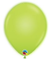 "11"" Q-Lite Green 5 Count Qualatex Light Up Latex Balloons"