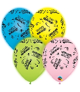 "11"" Q-Lite Special Assorted 4 Count Birthday Latex Balloons"