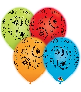 "11"" Q-Lite Special Assorted 4 Count Congratulations Balloons"